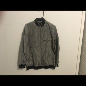 F21 green jacket